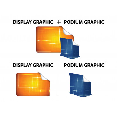 10ft Curve Tension Fabric Display (Graphic Replacement)