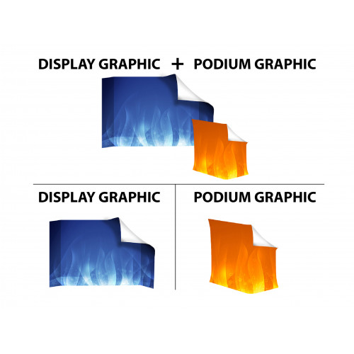 8ft Curve Velcro Fabric Pop Up Display (Graphic Replacement)