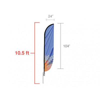 Feather Convex Flag (Medium)