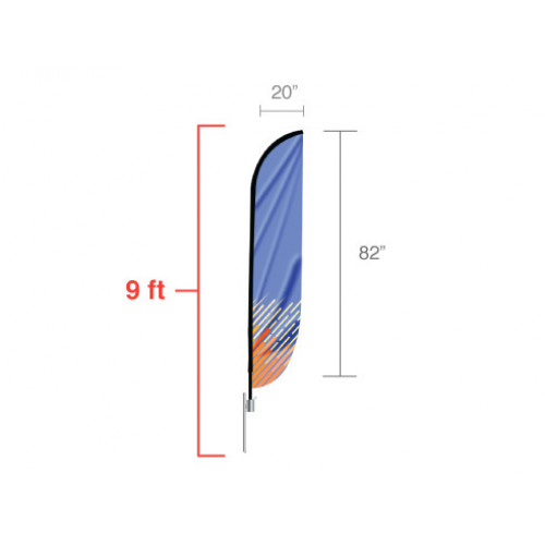 Feather Convex Flag (Small)
