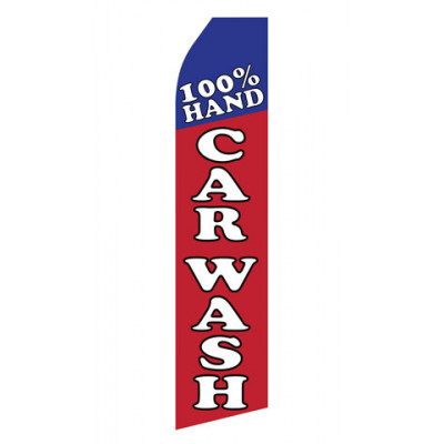 100% Hand Car Wash Econo Stock Flag