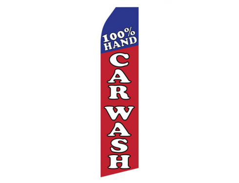 100% Hand Car Wash Econo Stock Flag