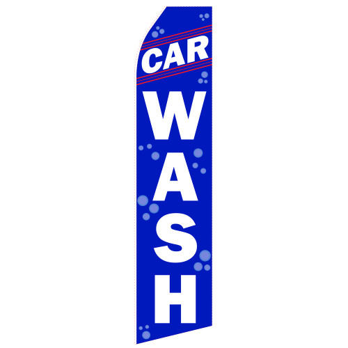 Blue Car Wash Econo Stock Flag