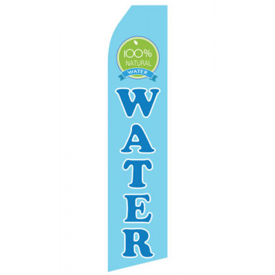 100% Natural Water Econo Stock Flag