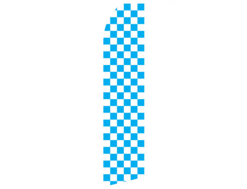 Blue and White Checkered Econo Stock Flag
