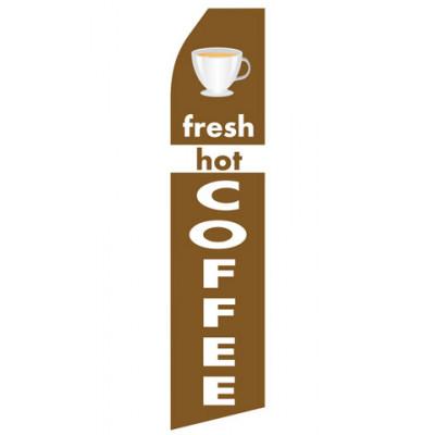 Fresh Hot Coffee Econo Stock Flag