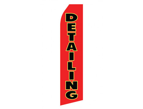Red Detailing Service Econo Stock Flag