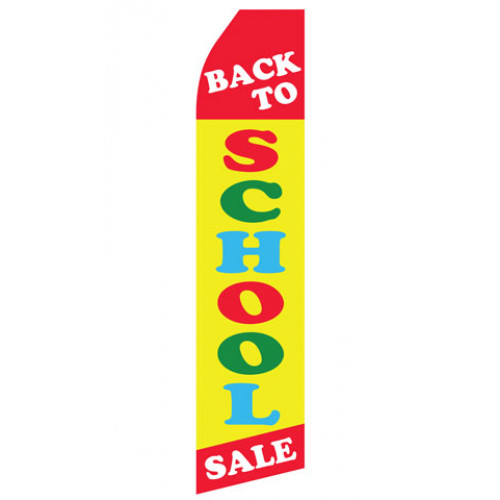 Back to School Sale Econo Stock Flag