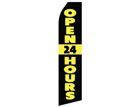 Open 24 Hours Econo Stock Flag