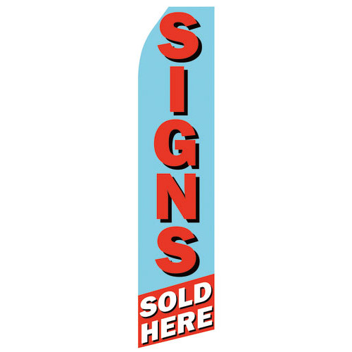 Sign Sold Here Econo Stock Flag