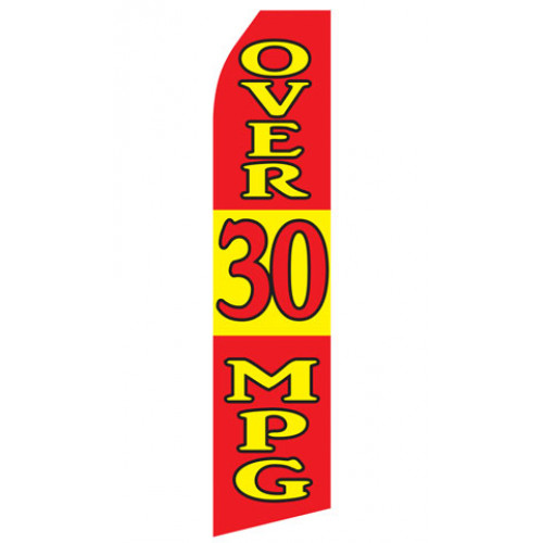 Over 30 MPG Econo Stock Flag