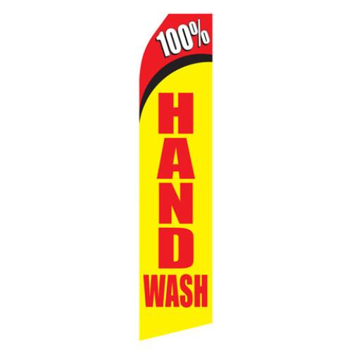 100% Hand Wash Econo Stock Flag