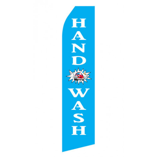 Blue Hand Wash Econo Stock Flag