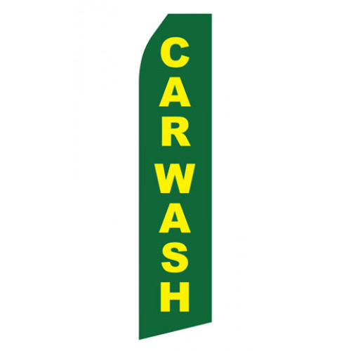 Green Car Wash Econo Stock Flag