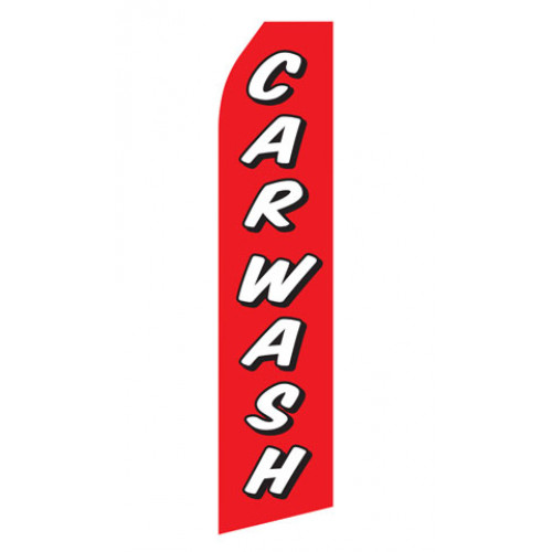 Red Car Wash Econo Stock Flag