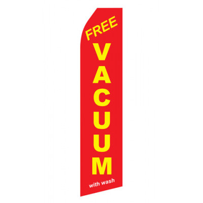 Red Free Vacuum With Wash Econo Stock Flag
