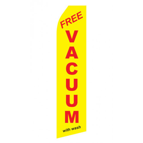 Yellow Free Vacuum With Wash Econo Stock Flag