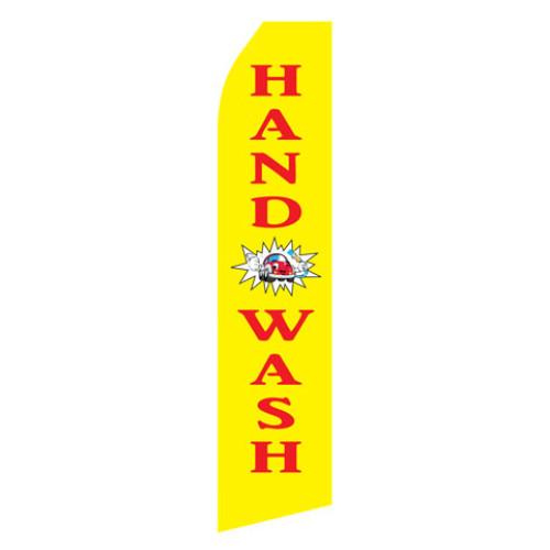 Yellow Hand Wash Econo Stock Flag