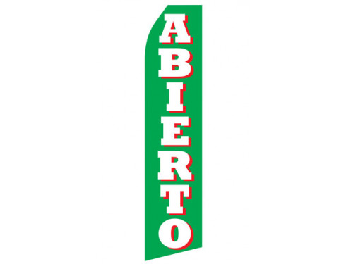 Abierto Econo Stock Flag