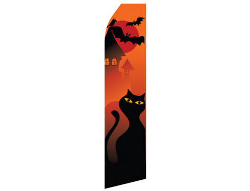 Halloween Cat Econo Stock Flag