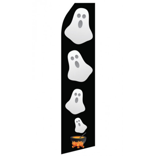 Halloween Ghost Econo Stock Flag