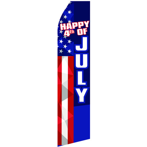 Happy 4th of July Econo Stock Flag