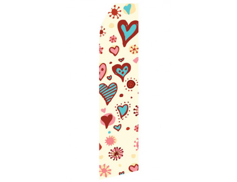 Heart Design Econo Stock Flag