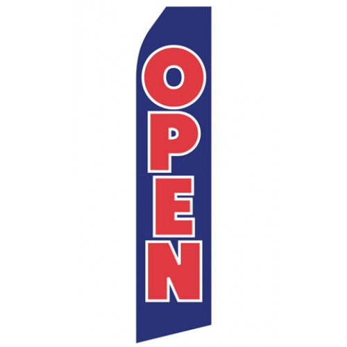 Blue Open Econo Stock Flag