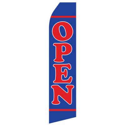 Blue Open Econo Stock Flag