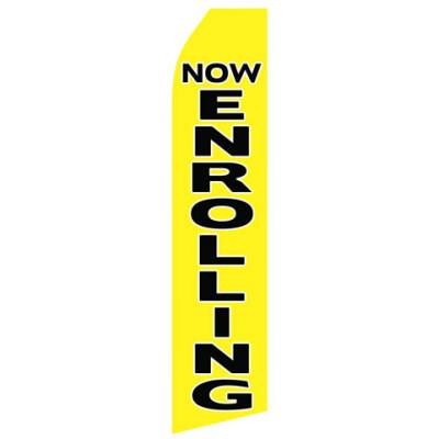 Now Enrolling Econo Stock Flag