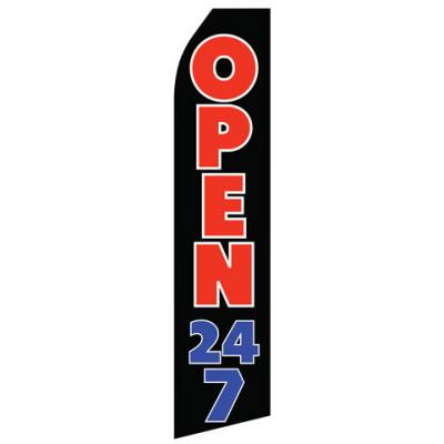 Open 24/7 Econo Stock Flag