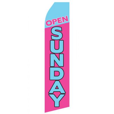 Purple Open Saturday Econo Stock Flag
