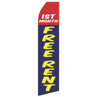 First Month Free Rent Econo Stock Flag