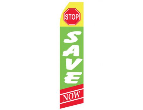 Stop Save Here Econo Stock Flag