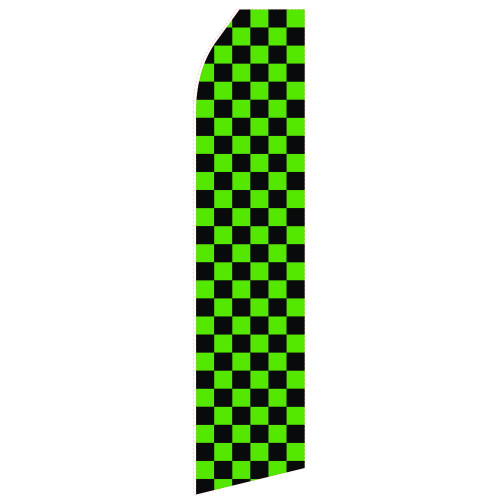 Black Green Econo Stock Flag