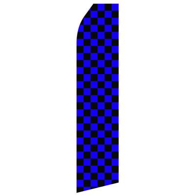 Blue Black Chessboard Econo Stock Flag