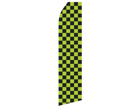Green and Black Checkered Econo Stock Flag