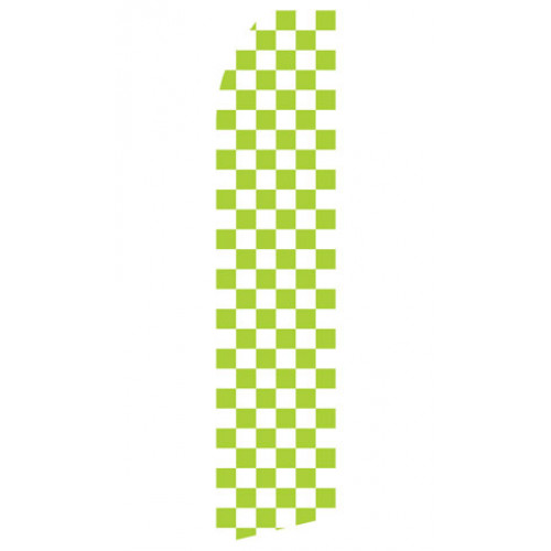Green and White Checkered Econo Stock Flag