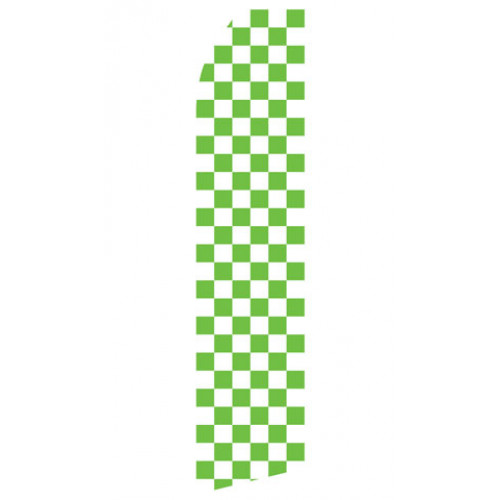 Green Checkered Econo Stock Flag