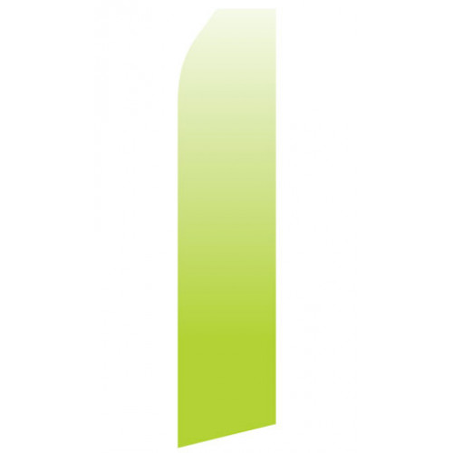 Lime Green Gradient Econo Stock Flag