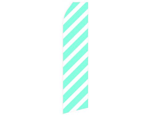 Ribbed Cyan Econo Stock Flag