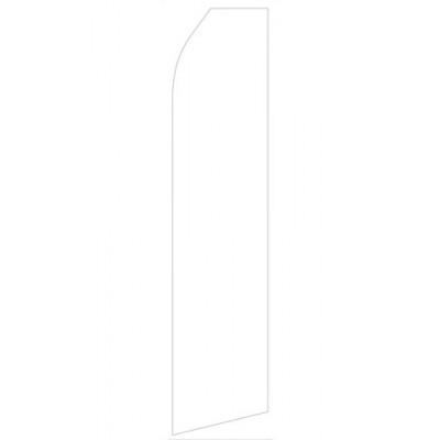 White Econo Stock Flag