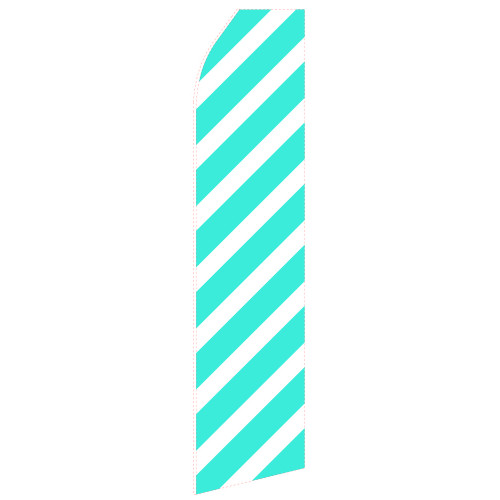 Wide Cyan Ribbon Econo Stock Flag