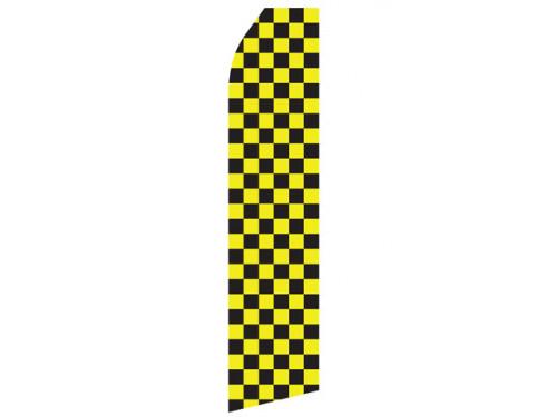 Yellow and Black Checkered Econo Stock Flag