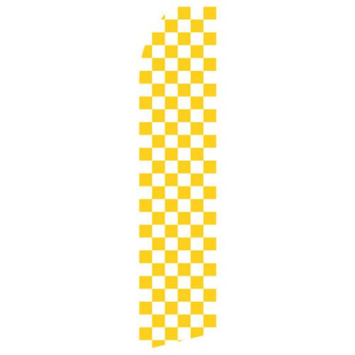 Yellow Checkered Econo Stock Flag