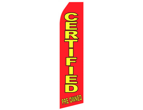 Certified Pre Owned Econo Stock Flag