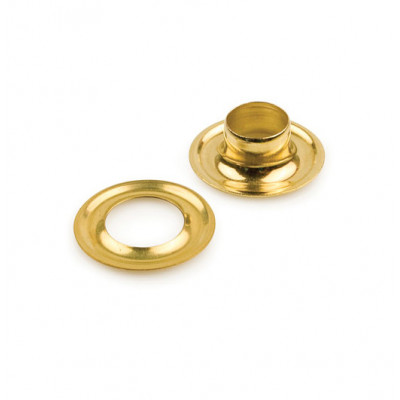 2 Self Piercing Brass Grommets (Stimpson) - 500 set
