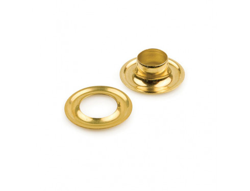 2 Self Piercing Brass Grommets (Stimpson) - 500 set